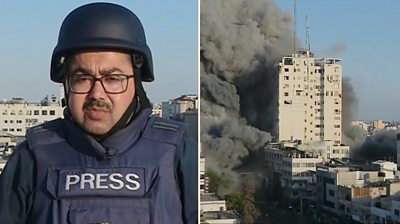 BBC reporter Adnan Elbursh in Gaza City