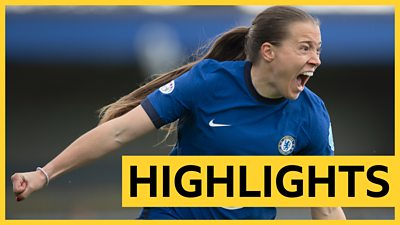 Watch highlights as a brace from Fran Kirby, plus goals from Ji So-yun and Pernille Harder help Chelsea thrash Bayern Munich to reach their Women's Champions League final.