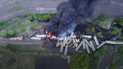 Iowa train fire