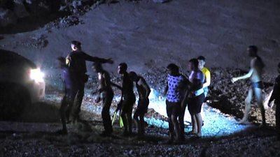 Migrants arrive in Ceuta