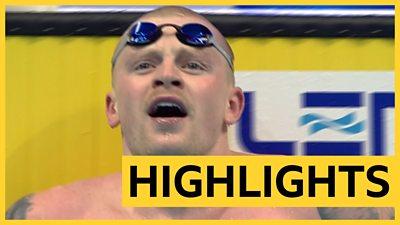 European Swimming Championships: Adam Peaty wins 100m breaststroke semi-final in 57.67