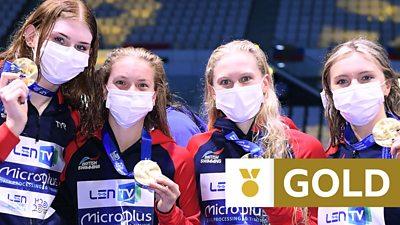 European Swimming Championships: Great Britain women secure historic European relay gold