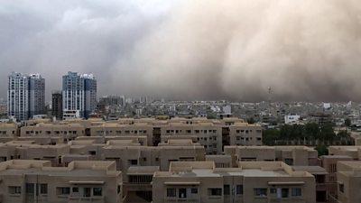 A dust storm hits Karachi