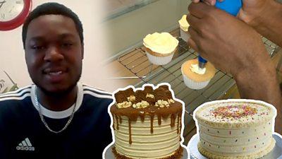Bobby Odu with cakes