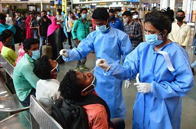 Healthcare working swabs of suspected Covid-19 patients