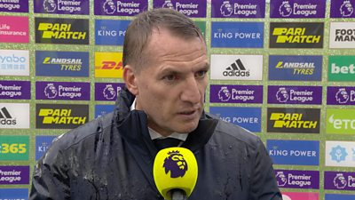 Leicester manager Brendan Rodgers