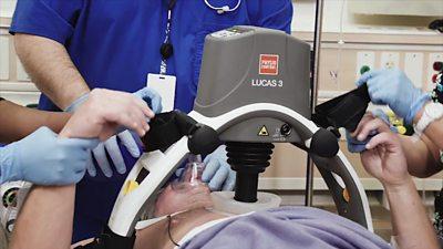 Lucas, the robot paramedic giving CPR