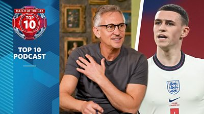 Gary Lineker and Phil Foden