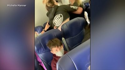 A dispute over the airline's mask policy led to a passenger punching a flight attendant.