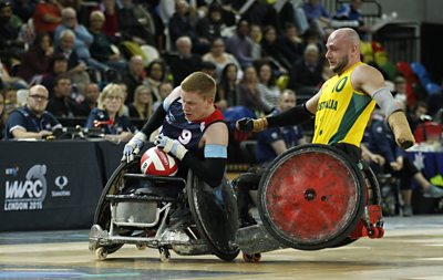 Wheelchair rugby player Jim Roberts