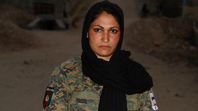 Momena in her uniform