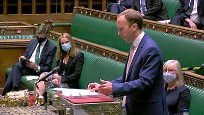 Matt Hancock in Commons