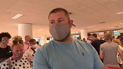 Man in face mask