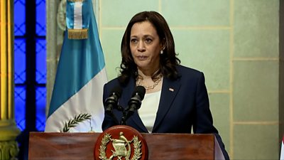 Kamala Harris speaking in Guatemala