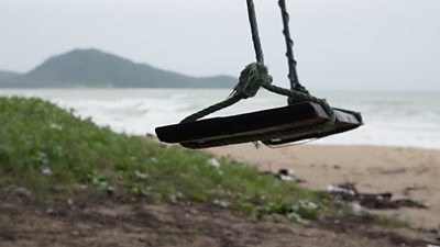A deserted beach in Phuket, Thailand