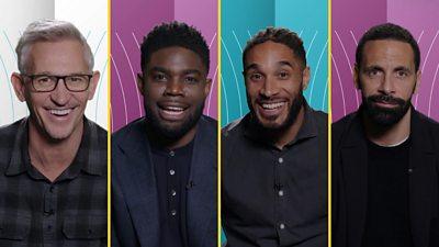 Gary Lineker, Micah Richards, Ashley Williams and Rio Ferdinand