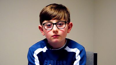 Ten-year-old Deaglan McCallion wants people to be more understanding of his condition.