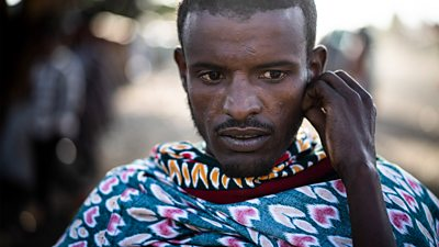 Mustafa, a migrant who attempted the journey from Ethiopia to Saudi Arabia