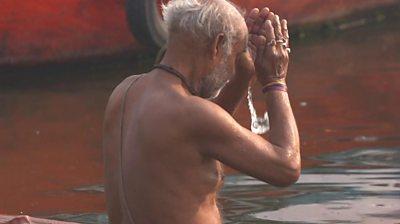 Man bathing in Ganges