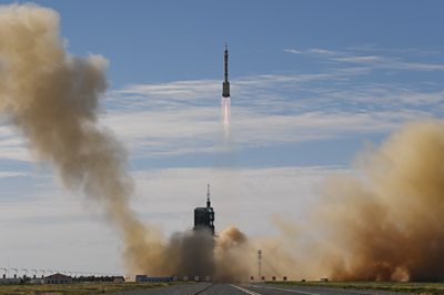 The Shenzhou-12 capsule successfully takes off atop its Long March 2F rocket