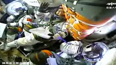 Chinese astronauts in space