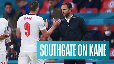 Gareth Southgate shakes Kane's hand