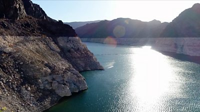 Drought at the Hoover Dam