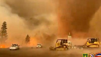 Fire tornado in northern California