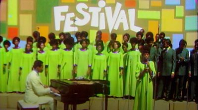 A performance at the Harlem Culture Festival