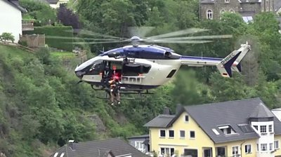 Helicopter rescues resident