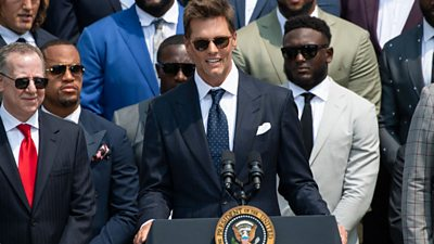 Tom Brady speaking at the White House