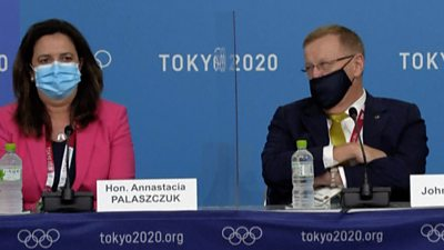 Annastacia Palaszczuk and John Coates at press conference