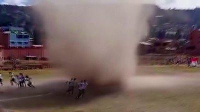 Dust devil in Bolivia