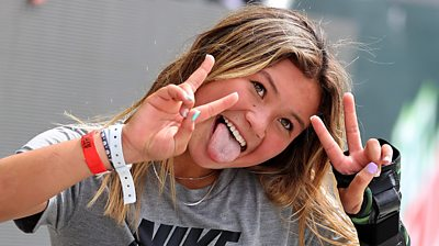 Skateboarder Sky Brown at the Dew Tour event, 21 May 2021