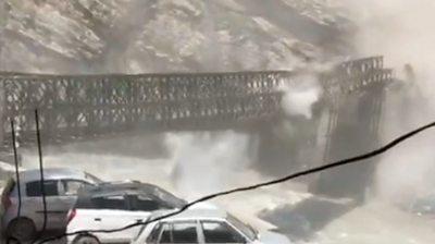 Bridge destroyed in Himachal Pradesh