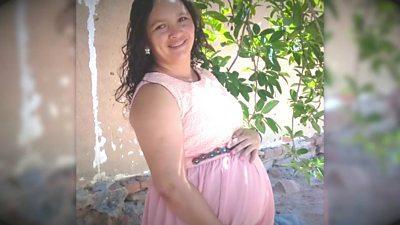 A pregnant Brazilian woman