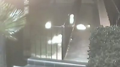 Flames outside Cuban embassy in Paris