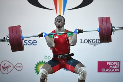 Cyrille Tchatchet weightlifting