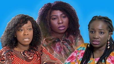 composite image of three Nigerian women