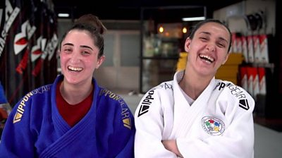 Sanda Aldass and Muna Dahouk