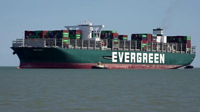 Ever Given arrives at Felixstowe