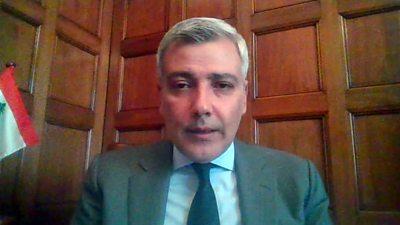 Rami Mortada Lebanon's ambassador to the UK