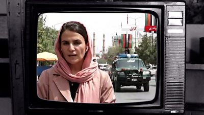 Female presenter from Afghanistan's Tolo News channel