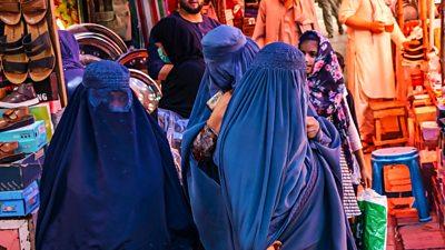 Women in Kabul market