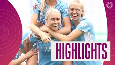 Manchester City celebrating