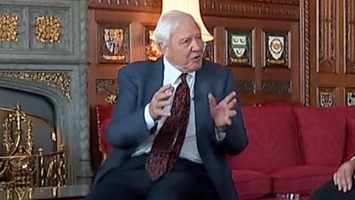 Sir David Attenborough speaks to the Climate Assembly