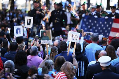 On the 20th anniversary of the 9/11 attack, New York City held moments of silence for the lost 2,977 lives.
