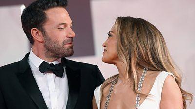 Ben Affleck and Jennifer Lopez at The Last Duel premiere