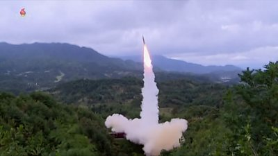 North Korea appears to test a new missile system