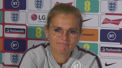 England head coach Sarina Wiegman comments on the idea of a World Cup taking place every two years, ahead of the Lionesses' qualifier against Luxembourg on Tuesday.